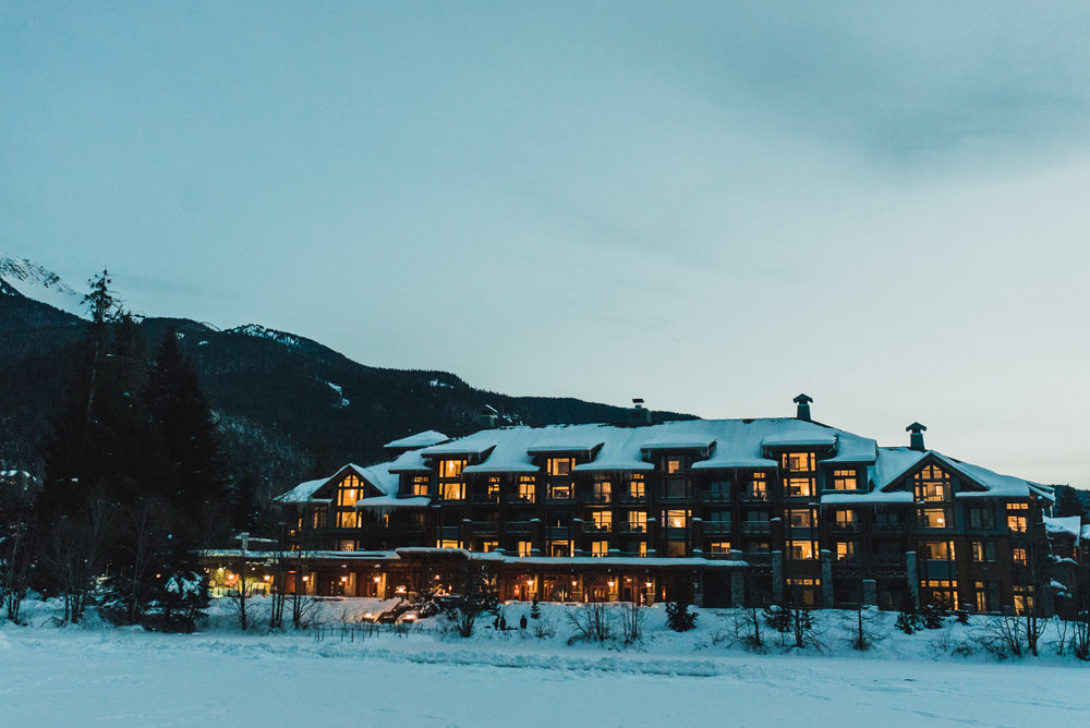 view of nita lake lodge in whistler bc - victoria wedding photographers
