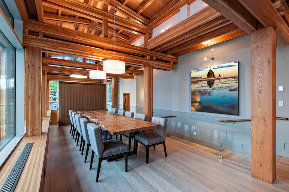 Sayde's image of Cannon Beach hanging in a client's home in Whistler, BC.