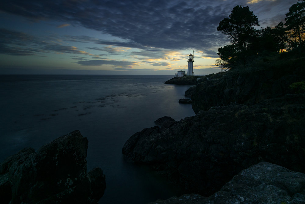 Sheringham Point Lighthouse, just outside Sooke in Shirley.