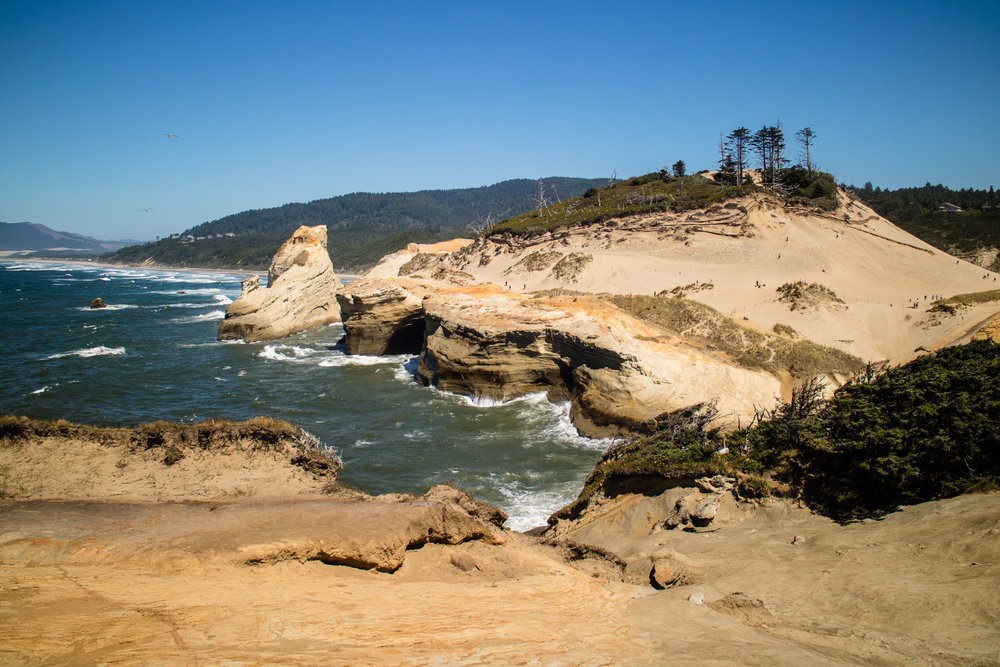 Headed down the Oregon Coast, one of our first stops was Cape Kiwanda.  Always dramatic, always beautiful.
