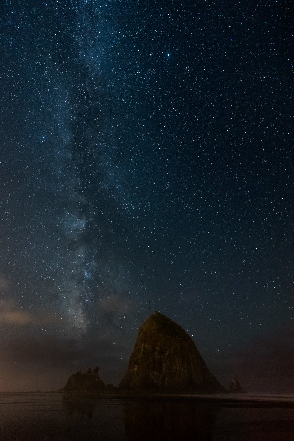 A second shot of the Milky Way at Cannon Beach.