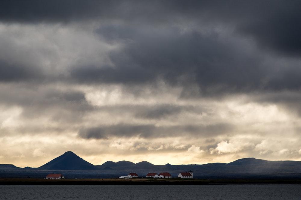 Clouds over Reykjavik.