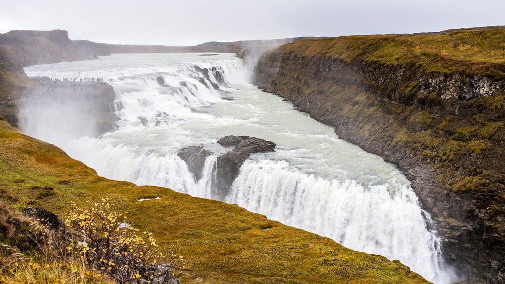 Gullfoss, along the Golden Circle.