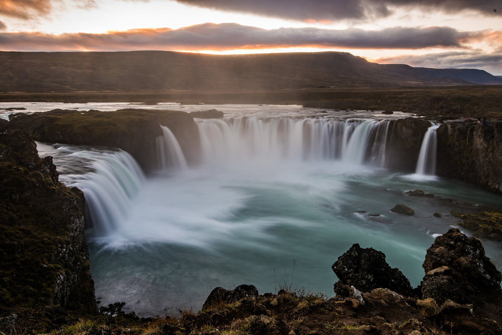 So much mist at Godafoss.