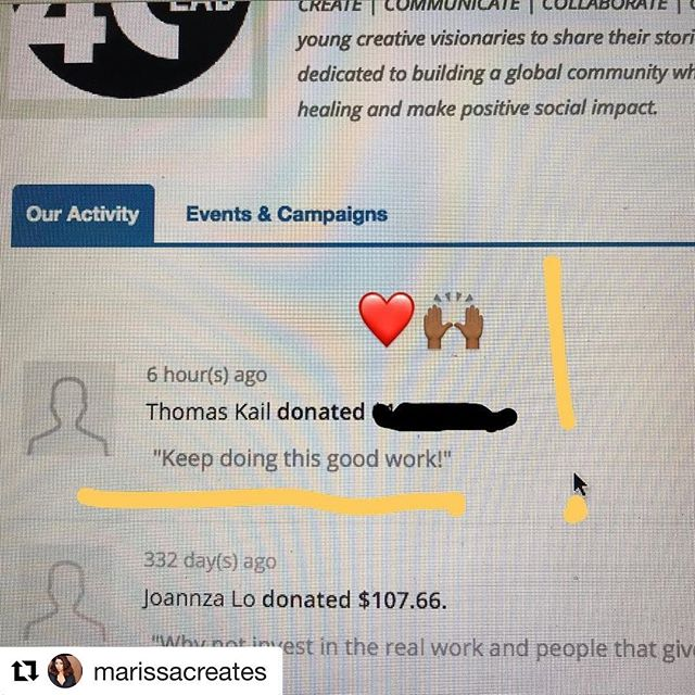 "Today, one of the GREATEST Creative Visionaries and Directors of our time was not only inspired by our @4c_lab  work... he made a contribution, but his support, kind words and endless inspiration are priceless.  Thank you Tommy Kail. We will most DEFINITELY ""keep doing this good work."" ❤️ #Hamilton #IntheHeights #Director #Hamfam #Creative #Visionaries #nextgen #grateful #arts #non-profit #todaywasagoodday"