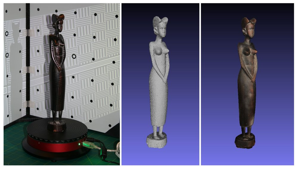 3D Scan process for an Historical Artifact
