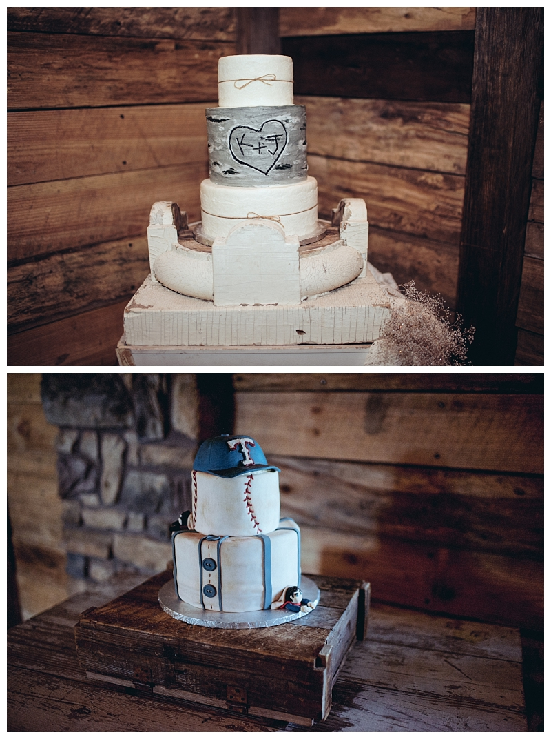 Bride and Groom Cakes