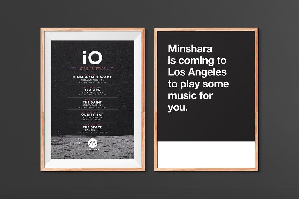 iO Release & LA Tour Posters