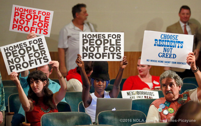 My sister-friend and prolific black feminist scholar and activist Shana griffin at last Thursday's City Council meeting at which they announced their decision to legalize short-term rentals in New Orleans.