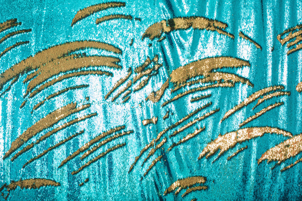 Teal & Gold Sequin Mermaid