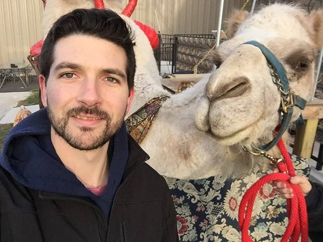 #Meet Josh! He's been with Snap Party Booths for 14 years,  and his #funfact is that he loves to travel!  #snap #photobooth #fun #snappartybooths #rental #photoboothrental #photo #photographer #camel #travel #silly #factoid #philly #philadelphia #comingtoapartynearyou #wedding #graduation #birthday #retirement #celebration