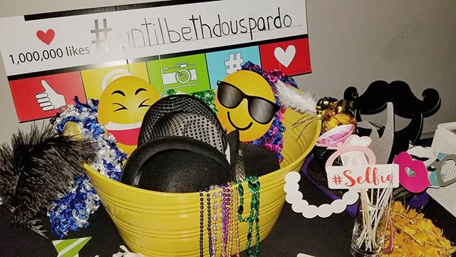 We think it's so cool when you guys bring your own props! Emojis, mustaches, signs, hats; which would you use?  #photobooth #selfiebooth #props #emojis #wedding #philly
