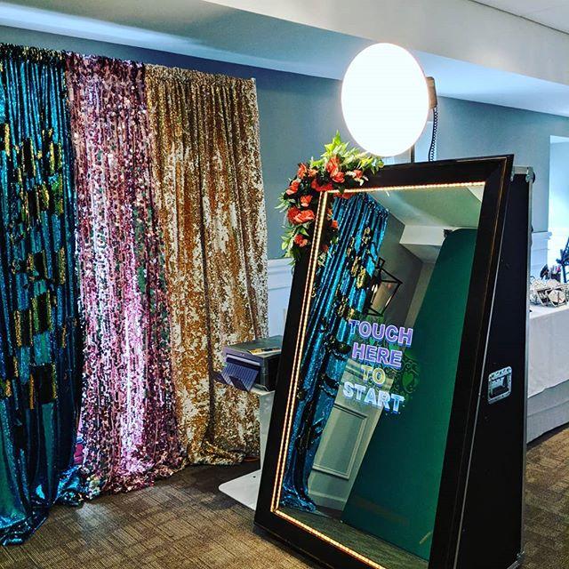 Green screen mirror booth today at the Bucks County Event Venue show! #MeetInBucksCo