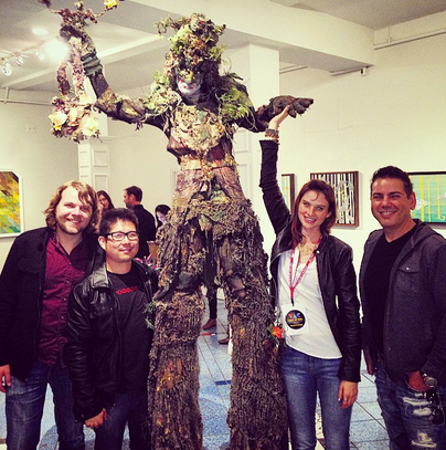 Visiting Galleries in Venice, CA with Performance Artist Tree-Man
