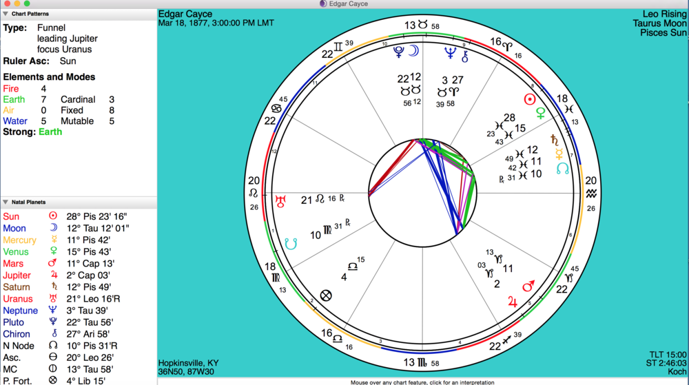 Natal Chart Reading Lady Art Collective