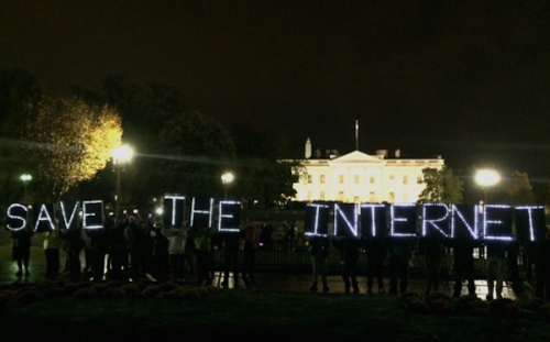 Save the internet protest