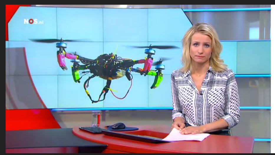 Drones on morning news