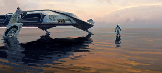 Spaceship on water