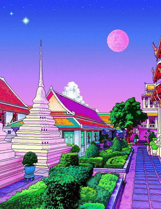 Pixel garden