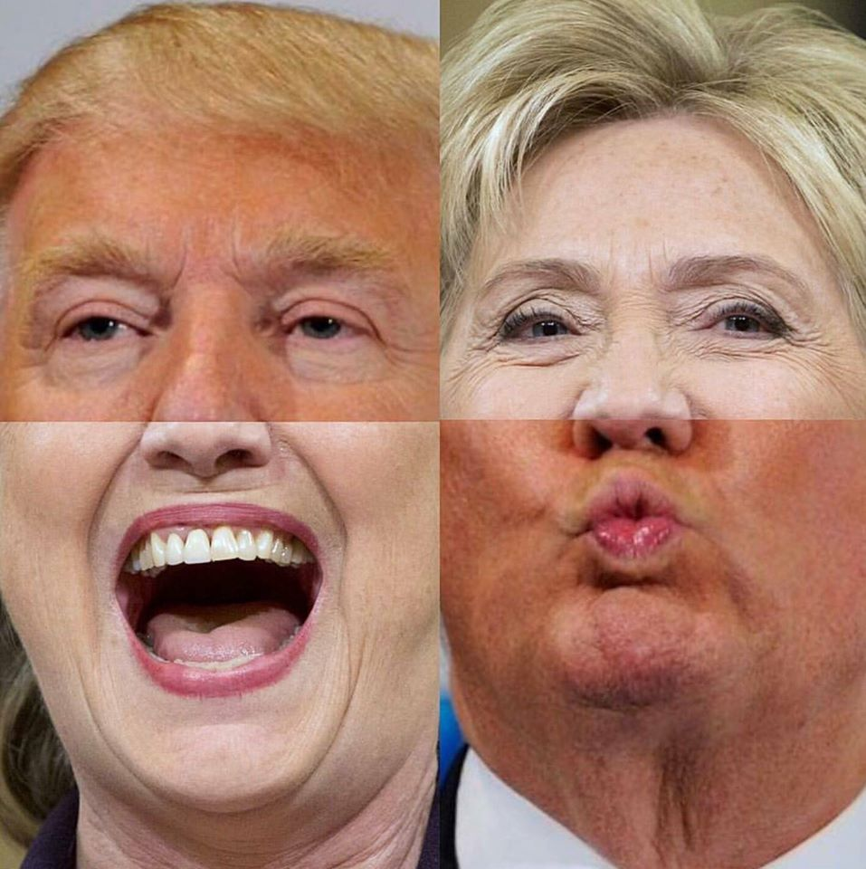 Donald Clinton & Hillary Trump are making love not war - via Museum of Internet