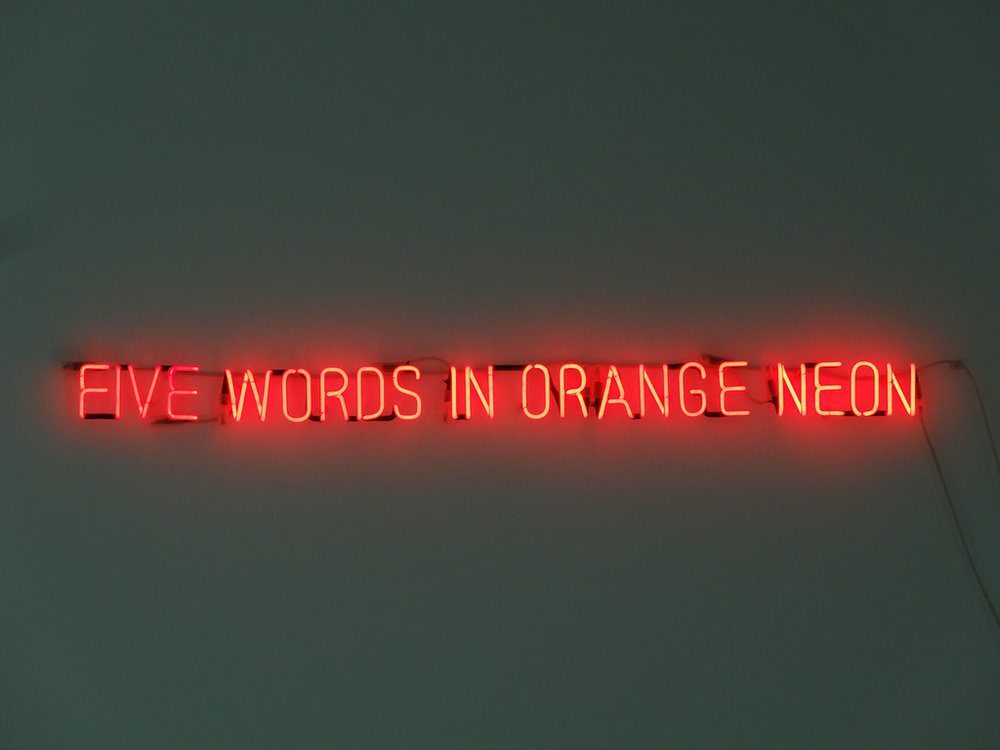Five Words in Orange Neon_Joseph Kosuth