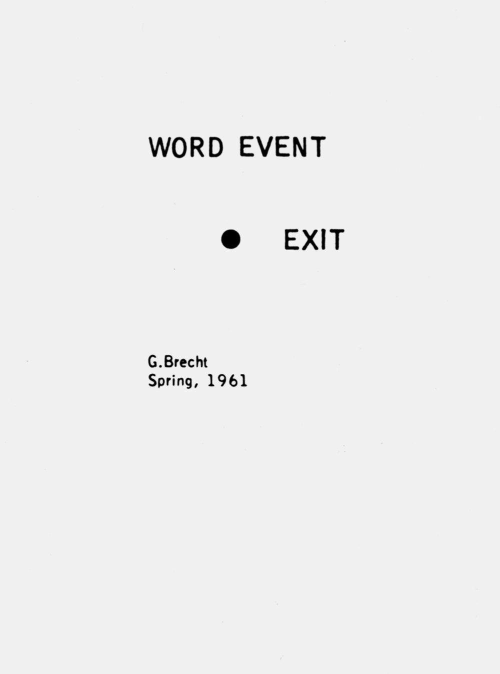 Exit_George Brecht