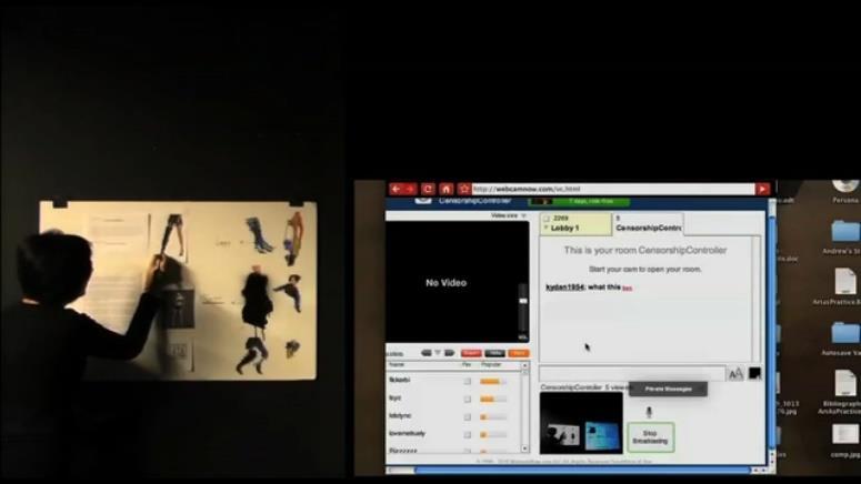 Still frame from  VIDEO INSTRUCTIONS: TIPS ON CENSORSHIP,  Morehshin Allahyari (Allahyari, 2010)