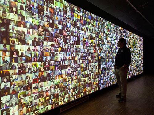 Vista de exposición de  Big Bang data  (Somerset House, 2015)