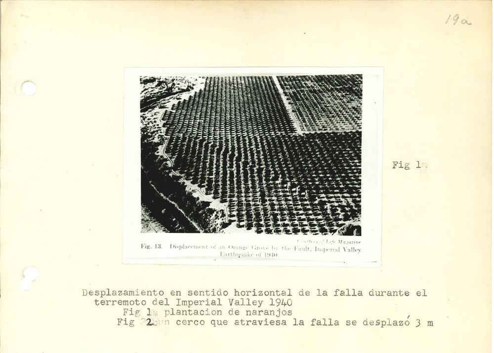 Desplazamiento en sentido horizontal de la falla durante el terremoto del Imperial Valley 1940. [fotografía] - Constitución, terremoto 1° diciembre de 1928. .jpg