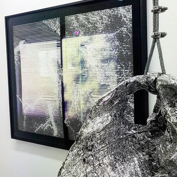 Exhibition view, Samantha Lee's artwork