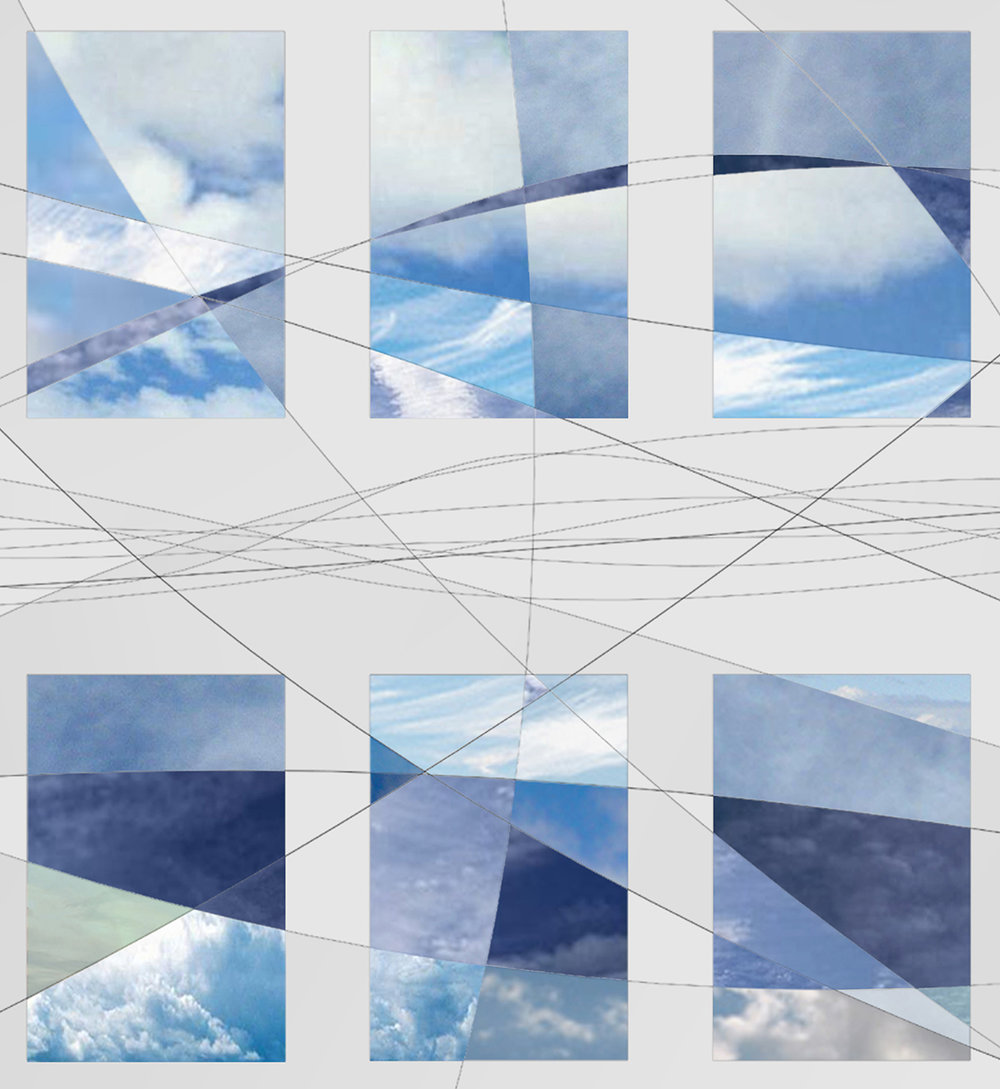 "Light + Sky , 2004 - Composite Photograph, 36"" x 11.5""."