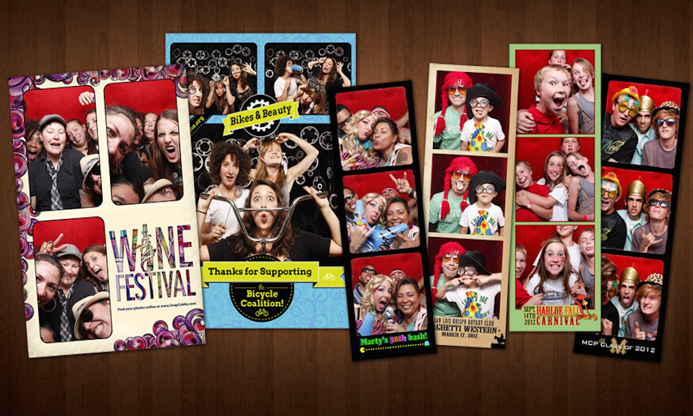 We have great photo booth strip designs