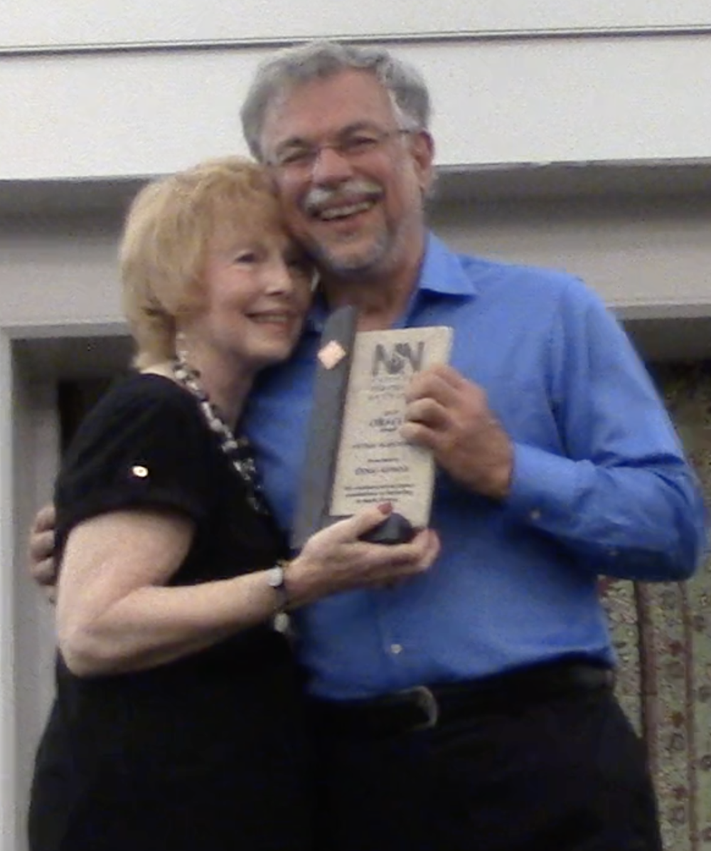 Jane Marshall presents Doug with the Lifetime Achievement Award, July 2017