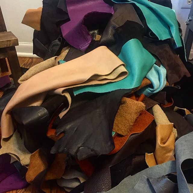 The current state of my studio, time to clean after the busy Holiday Season #mood #leather #cleanup