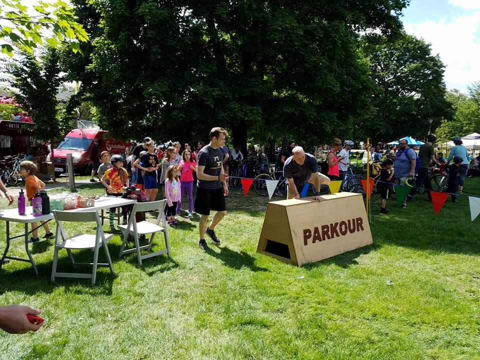 Outdoor event at Sunday Parkways