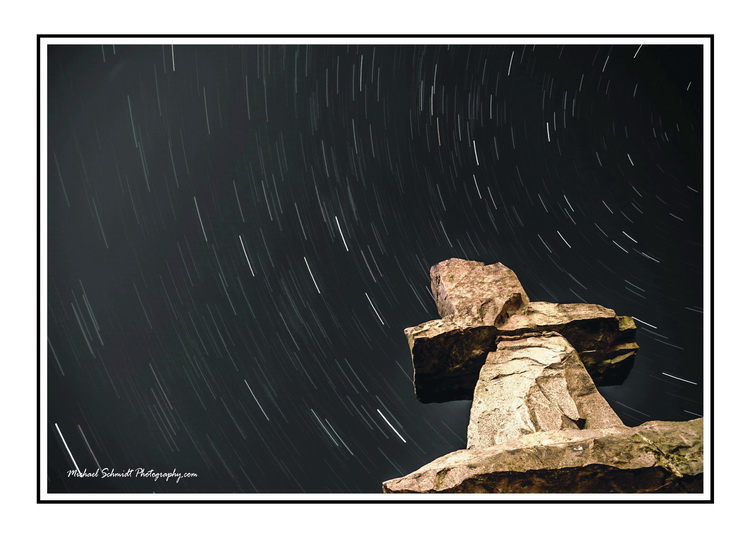 2013-10-16 Vancouver English Bay Inukshuk Star Trails