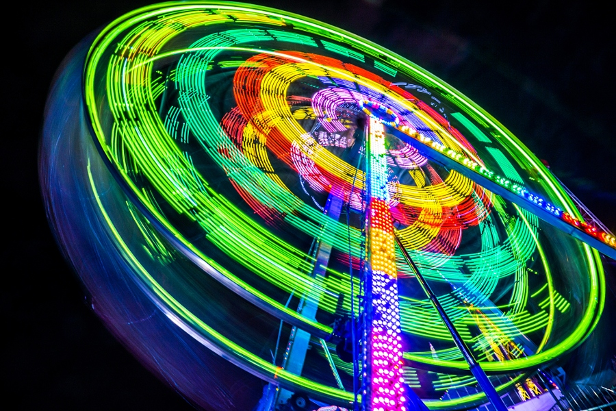 2014-08-21 Vancouver Playland Long Exposures Westcoast Wheel-10