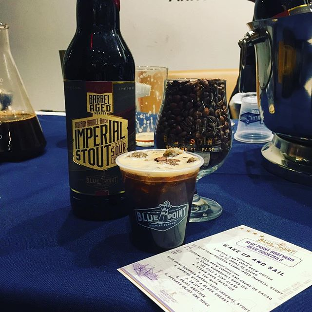 Meet the new brunch killer... Wake Up and Sail #SupporthePour #pourandproud #bluepointbrewery #bluepointbrewing #sailawaycoffee #beercocktails #mixology #beer #stout #bartender #cocktails #coldbrewcoffee #brunch