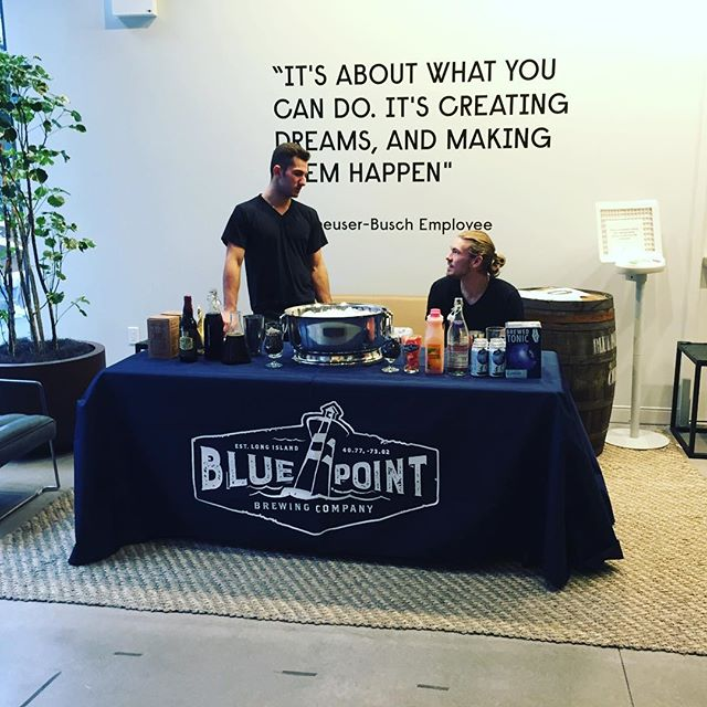Once you get past the handsome bartenders, you get an inspiring quote... #SupporthePour #pourandproud #mixology #bartender #bartending #bluepointbrewing #bluepointbrewery #beercocktails #cocktails