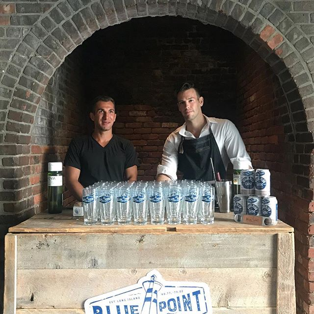 The boys getting ready for press night with one of our favorite clients @bluepointbrewing  @secretsummernyc