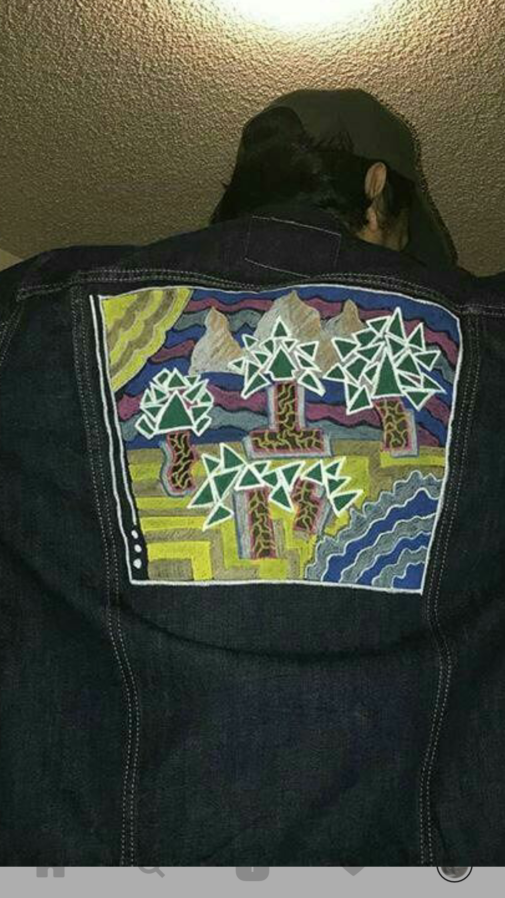 A Forgotten Place- Paint markers on jean jacket