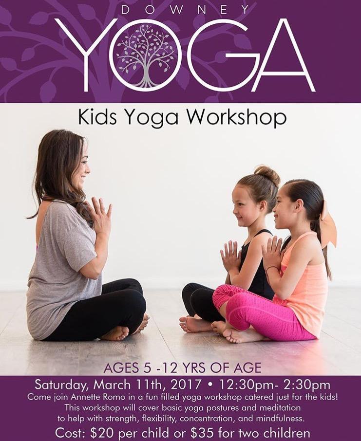Kids Yoga Workshop March 11 Annette Romo Yoga