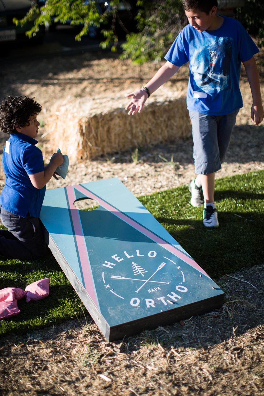 Backyard games at Hello Ortho in Napa