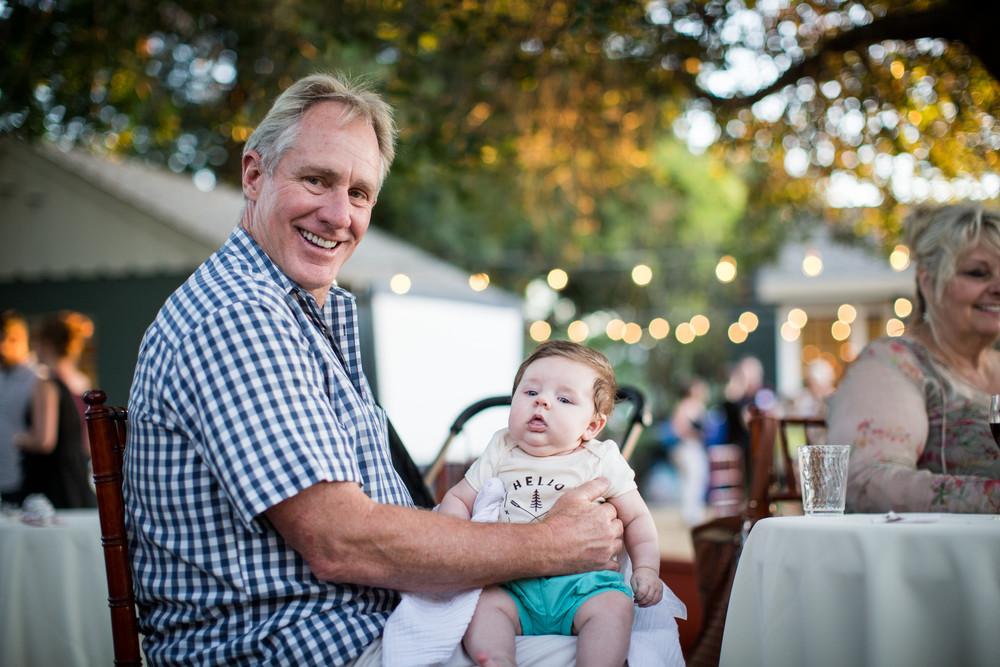 Dr. Jordan's dad, Dr. Cecil Lamberton, with his new granddaughter, Marlowe