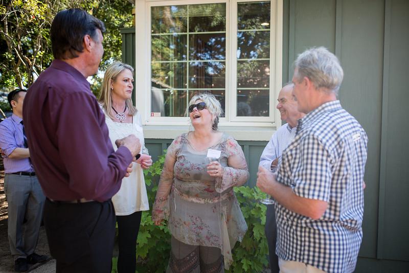 Dr. Jordan's parents enjoying Hello Ortho's open house