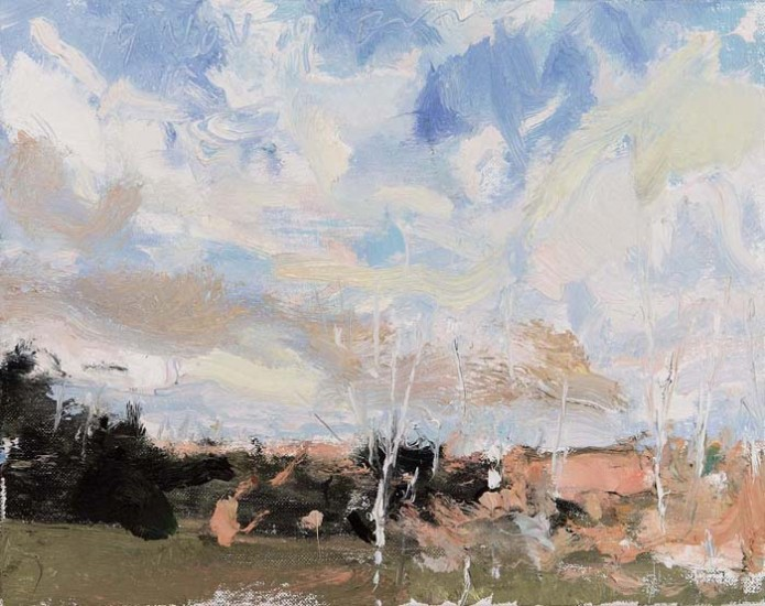 NOV. 9 SKY, Oil on Linen, 11 x 14""