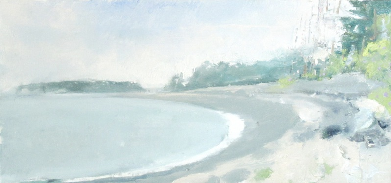 GILLEY BEACH, Oil on Linen, 12 x 24""
