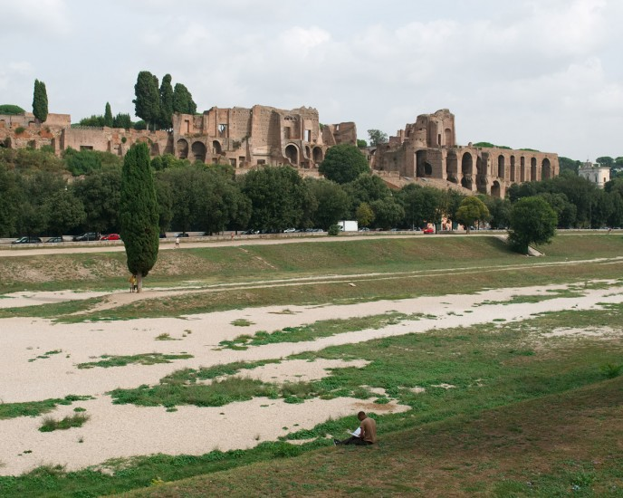 """CIRCO MASSIMO III, Archival Pigmented Print Mounted to Plexiglass, image 12 x 15"""" framed 16 x 19"""""""