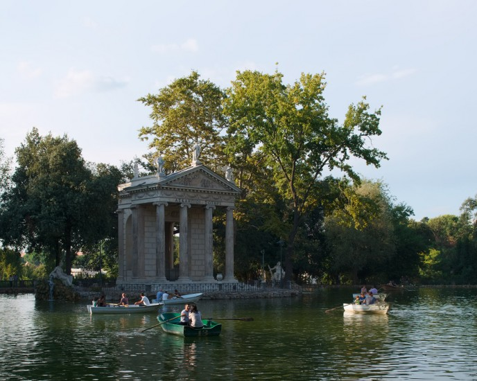 "VILLA BORGHESE, Archival Pigmented Print Mounted to Plexiglass, image 12 x 15"" framed 16 x 19"""