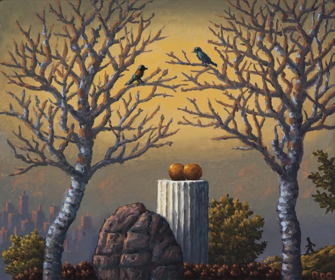 "OFFERINGS, Oil on Panel, image 5 1/2 x 6 1/2"" framed 7 x 8"""